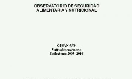 OBSSAN -UN- 5 AÑOS DE TRAYECTORIA